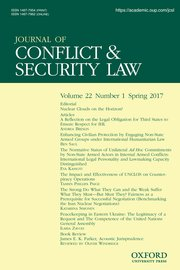 The Journal of Conflict & Security Law