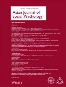 Asian Journal of Social Psychology