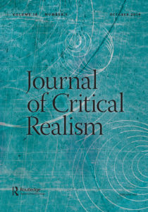 cover of journal of critical realism